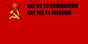 Soviet Flag defaced