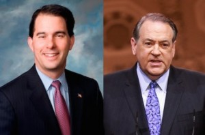 Scott Walker Mike Huckabee